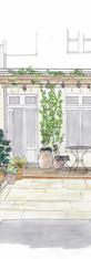 Croquis terrasse italienne