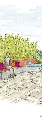 implanter un nouveau revêtement et une fontaine à débordement