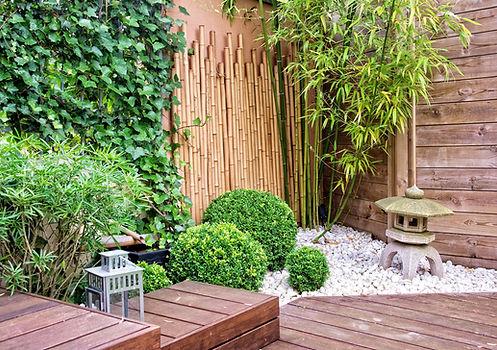 Exemple de création d'un jardin japonais en centre ville réalisable par Jardin d'Echoppe