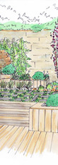 création d'un jardin en escalier