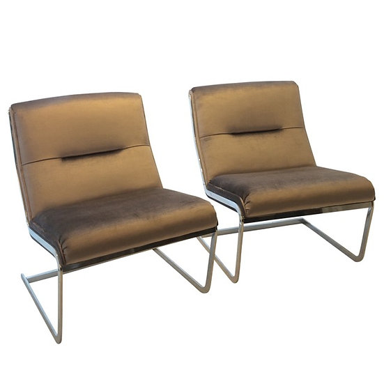 1960s Chrome Chairs By Poul Nørreklit