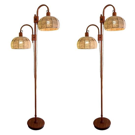 1950s Wood Floor Lights