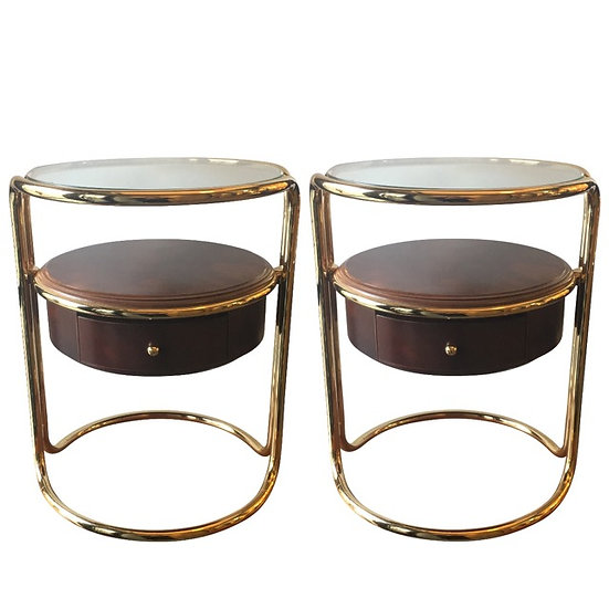MidCentury Brass Side Tables