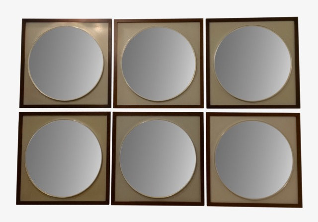 1950s Macassar Wood Mirrors