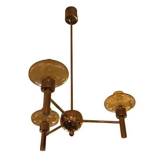 MidCentury Brass Ceiling Light