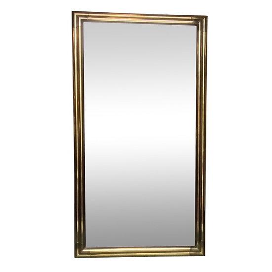 1960s Brass Mirror