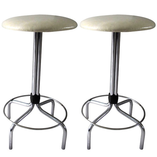1950s Bar Chrome Stools