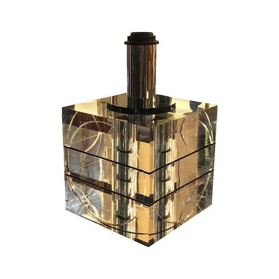 Glass Cube Table Light