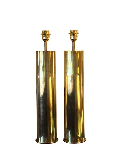 1950s Brass Table Lamps