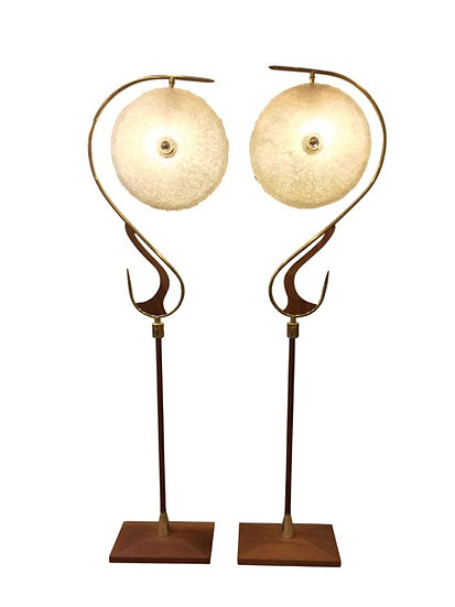 1950s Wood Floor Lights