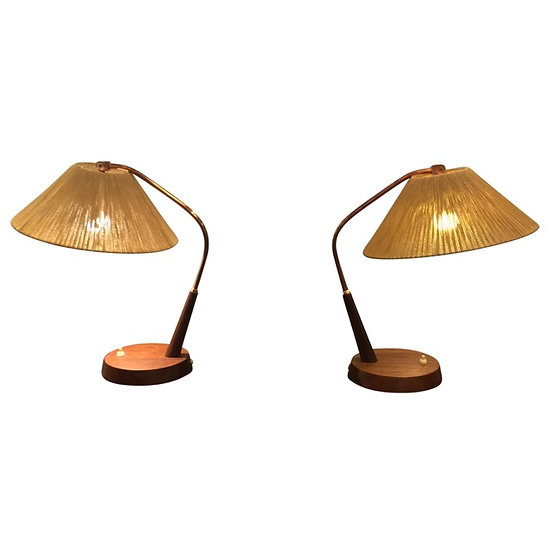 1950s Wood Table Lamps