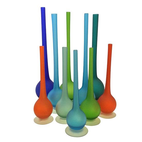 Carlo Moretti Pencil Neck Satinato Vases