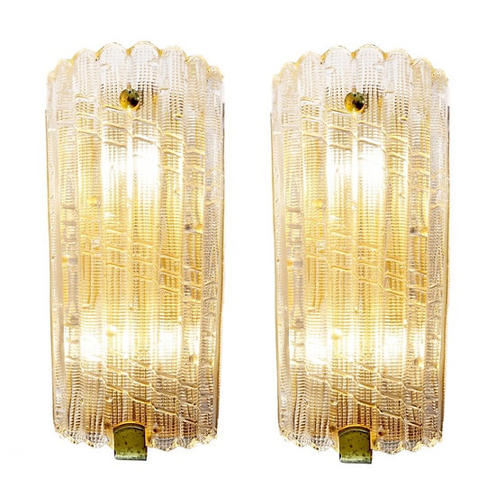 Carl Fagerlund Sconces for Orrefors