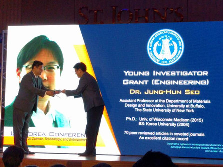 Prof. Seo has awarded the Young Investigator Grant (YIG) by KSEA