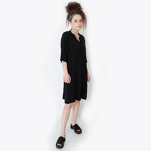 שמלת שינה ארוכה שחורה