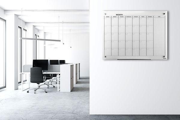 DEB - לוח מגנטי לתכנון שבועי, לוח מגנטי לתכנון חודשי, לוח מגנטי לתכנון חודשי של המותג ביקליר Bclear