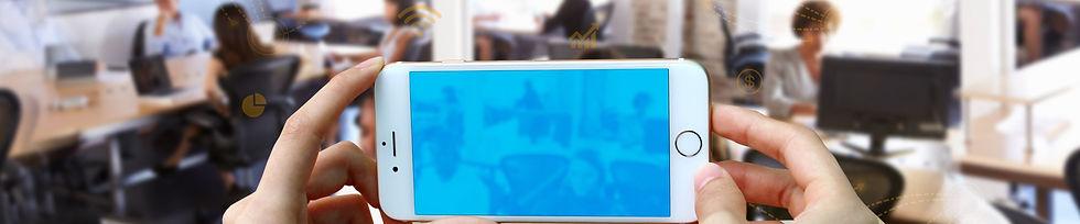 אמיוס תמונת רקע מנהלים ששולטים בעסק מקבלים החלטות  בזמן אמת מכל מקום גם באפליקציה. ERP SAP Emuse