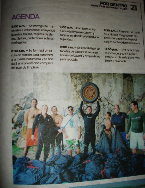 BEACH CLEANING NUEVO DIA NEWSPAPER