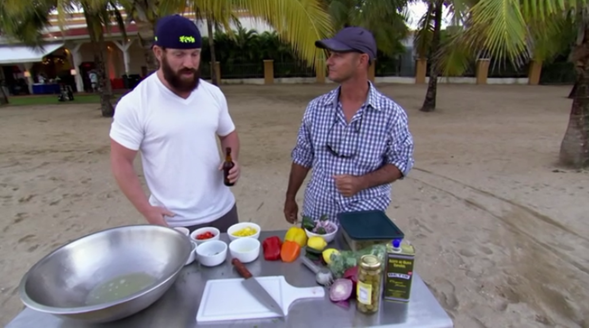 Teaching how to make Ceviche