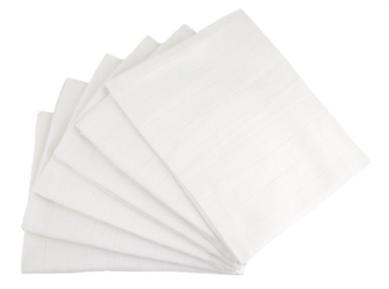 MuslinZ Cotton Muslin Cloths Reusable Nappy White
