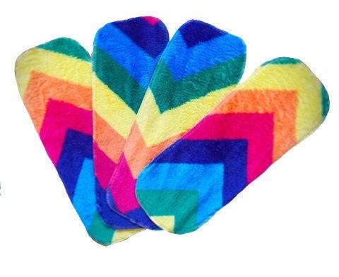 Sew Sustainble Rainbow Fleece Fluffy Reusable Nappy Liners