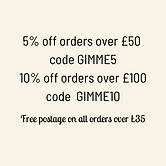 5% off orders over £50 - 5OFF 10% off or