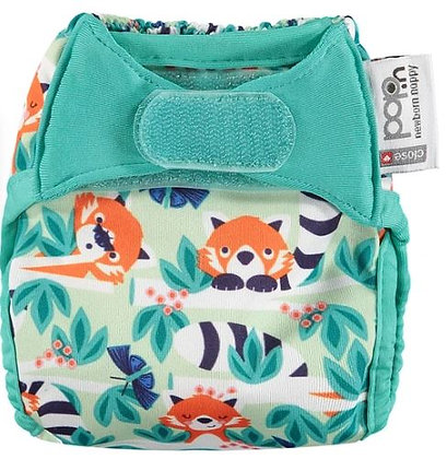 Pop-in Newborn Reusable Nappy - Red Panda