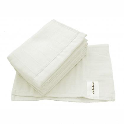MuslinZ 100% Cotton Prefold Nappy. Newborn and Infant Sizes.
