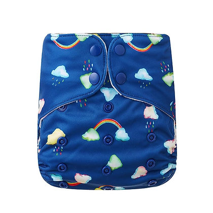 Bells Bumz All In Two AI2 reusable nappy chasing rainbows