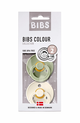 BIBS Colour Dummy Size 1 - Twin Pack