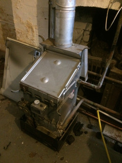 Removal of old boiler