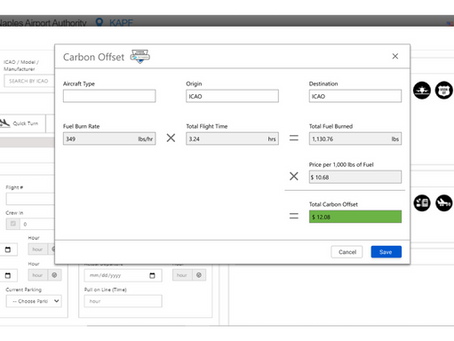 X-1 Green E-Mission Feature: Calculate FBO Carbon Offsets