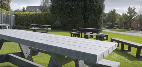 Lavička, pivní stůl, odolný, vandaluvzdorný