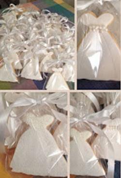 Bridal Shower Dress Cookie Favor
