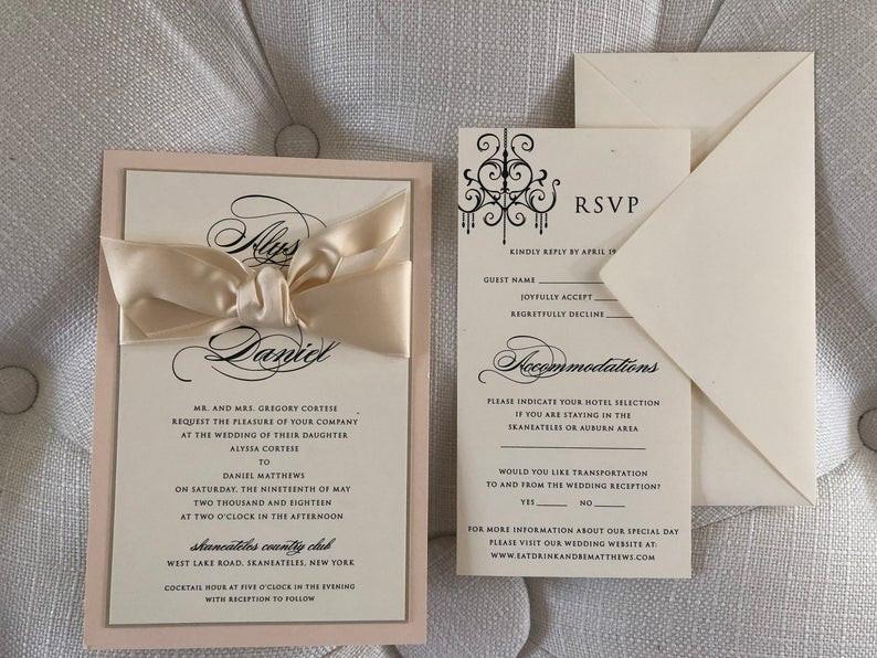Alyssa Wedding Invitation Suite