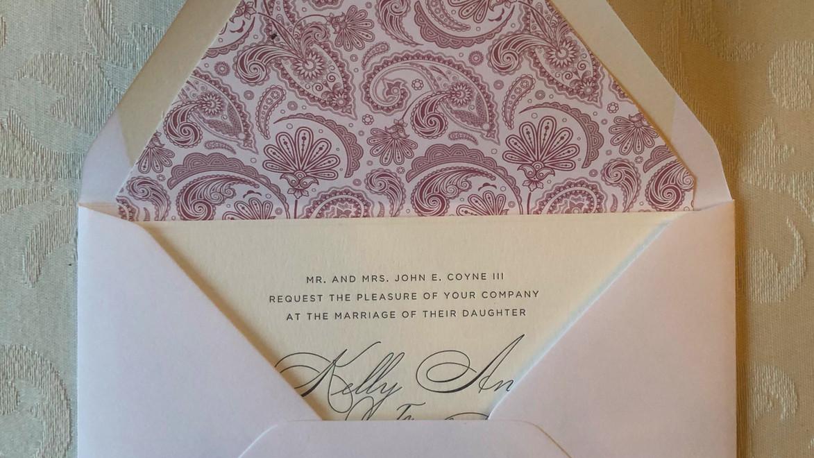 Pink Paisley Letterpress