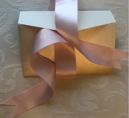 Blush Pearl Pocket Wedding Invitation