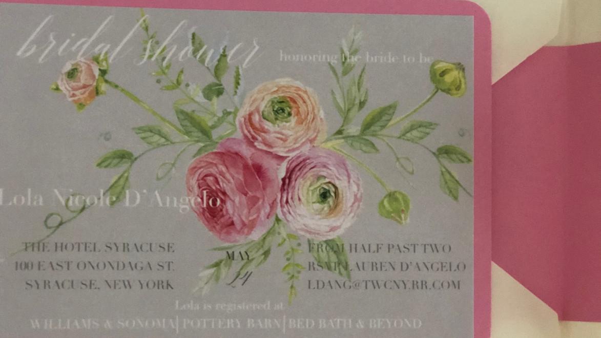Lola Grey Bridal Shower Invitation