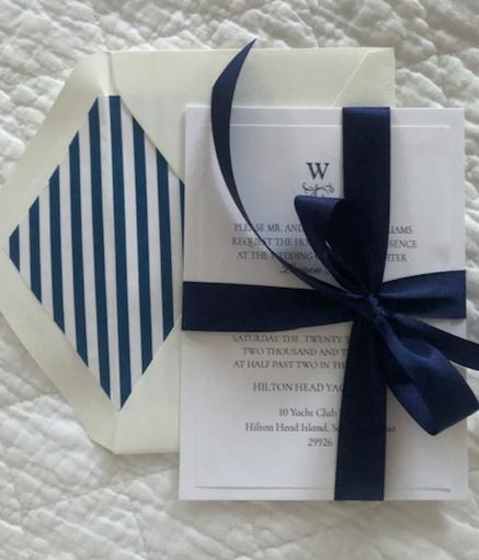 Yacht Club Wedding Invitation
