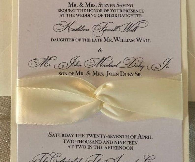 Kathleen Wedding Invitation