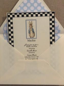 Mackie MacKenzie Baby Shower Invitation