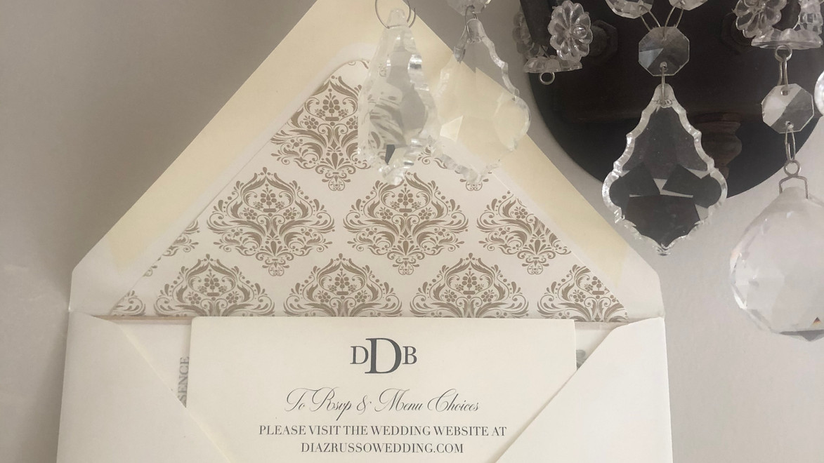Danielle Wedding Suite with Euro French Flap Envelope
