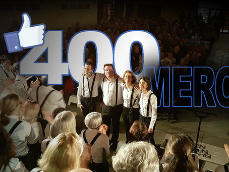"""400 """"J'aime """" MERCI !"""