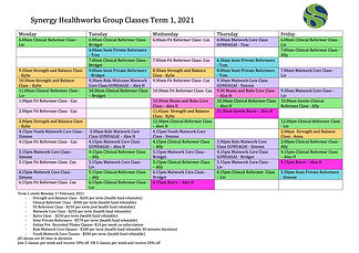 Term 1 Wagga Timetable 2021 with Instruc