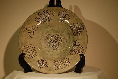 Celtic Knot shallow bowl
