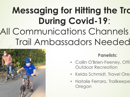 Messaging for Hitting the Trail During Covid-19 Webinar Recording Now Available!