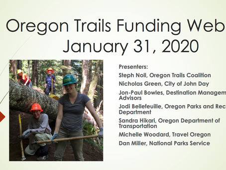 Oregon Trails Funding Opportunities: Webinar Recording Now Available!