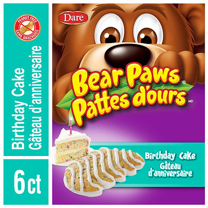 Bear Paws Birthday Cake Soft Cookies