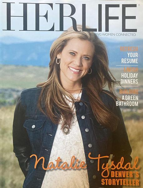 Natalie Tysdal on Herlife cover