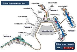 シカゴの空港のマップ